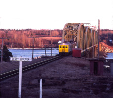 VIA  6206 RDC-2 Derby Jct. NB 1984-04
