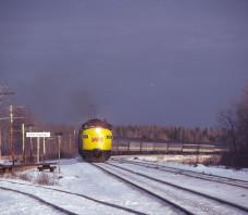 VIA  6539 FP9A Painsec Jct. NB 1978-12