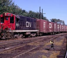 CN 1653 Train 725 Woodstock NB 1967-09-15