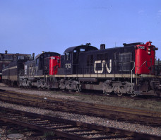 CN 1732 RSC-13 Train 115 Charlottetown PE 1968-05-03